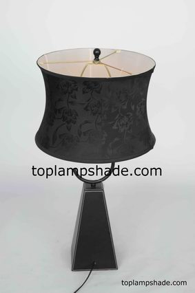 Black Floral Table Lampshade-LS1868