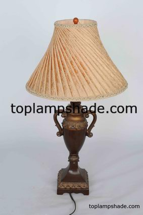 Empire Pleated Fabric Table Lamp Shade-LS1906